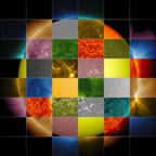 patchwork Sun showing various colors