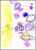 solar system drawing