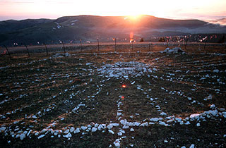 Bighorn Medicine Wheel at sunset